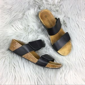 Lola Sabbia Black Liat Wedge Sandal